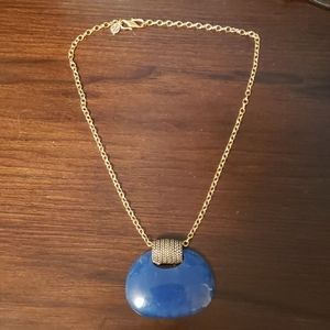 Contemporary Barse Blue Stone Pendant and Necklace